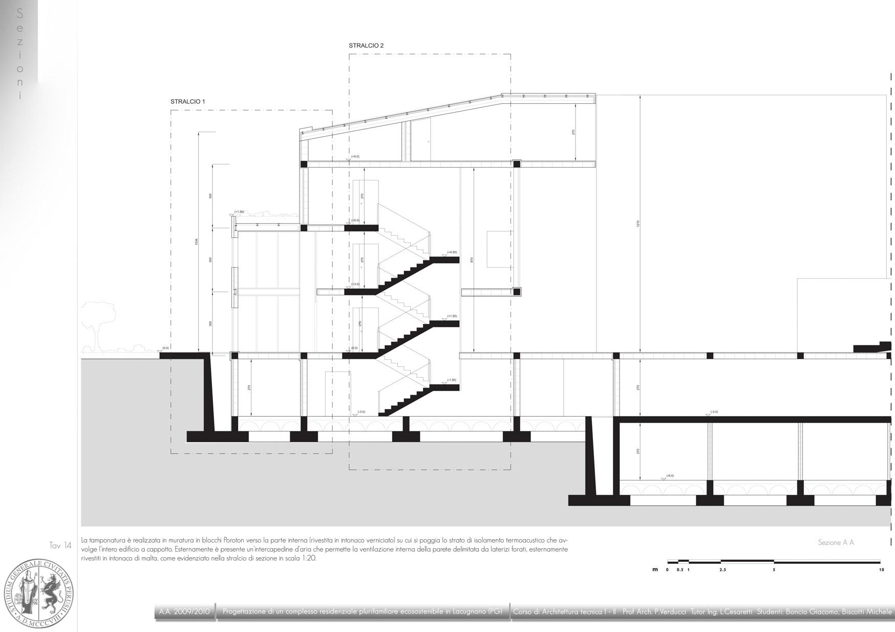 Giacomo boncio progetto di un edificio residenziale for Disegni staccati del garage